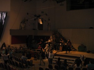 The Praise team from Dumas TX leads worship on Sunday Morning, ready for the start of a BIG week VBS!!